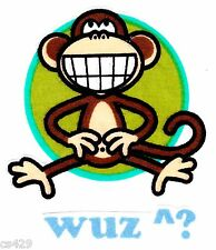 "3"" BOBBY JACK MONKEY TEXT ME WUZ ? WALL SAFE FABRIC DECAL CHARACTER CUT OUT"