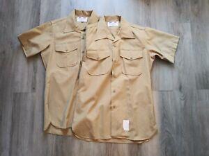 Lot Of 2 Flying Cross Distinguished Service Short Sleeve Shirts Mens Size Medium