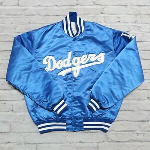 Vintage 90s Los Angeles Dodgers Satin Jacket by Starter Made in USA Size L Rare