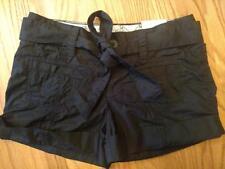 JR Size 1 So wear it Declare it Shorts New black cute tie cuffs little pockets
