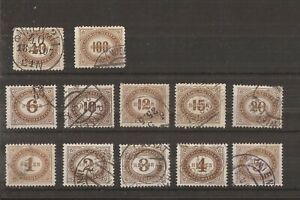 AUSTRIA 1899 POSTAGE DUE STAMPS SET OF 12 VFU
