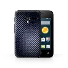 Case/Cover for Alcatel OneTouch Pixi 3 3.5/Carbon Fibre Effect/Pattern/Blue