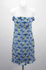 Lilly Pulitzer Womens Size 6 Strapless Sun Dress Blue Butterfly (Franco) Ruffle