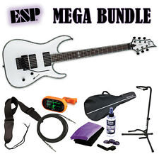 ESP LTD H-1001 FR Snow White SW *New* Electric Guitar H1001FR 1001 MEGA BUNDLE 2