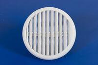 griglia aerazione in plastica con molle e zanzariera Ø 80/125 mm griglie a muro