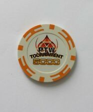 25 Poker Fiches 14 gr. in clay PTW Tournament chips valore 5000 - cod. ptw5k