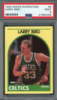 Larry Bird Boston Celtics 1990 Hoops Superstars Basketball Card #6 Graded PSA 9