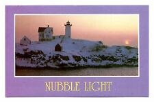 Nubble Light Postcard Cape Neddick York Maine Lighthouse Most Photographed East