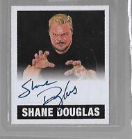 SHANE DOUGLAS LEAF ORIGINALS WRESTLING 2017 WWE AUTO CARD black #d 1/1 ALTERNATE