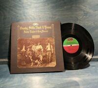 CROSBY, STILLS, NASH & YOUNG: Déjà Vu 1970 Record Album ATLANTIC SD 7200 VG+