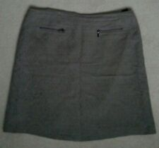 LADIES M+S TAUPE BROWN PENCIL A LINE SKIRT SIZE 14