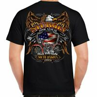 Biker Life Sturgis 2019 Black Hills Rally Rebel Rider Motorcycle T Shirt ST-M719