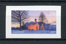 Germany 2017 MNH Christmas Maria Rast Chapel 1v S/A Set Trees Churches Stamps