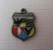Vintage Enamel Liechtenstein Travel Shield Charm