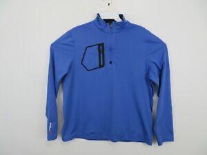 Ralph Lauren X RLX 1/4 Zip Blue Golf Active Athletic Jacket Mens Size Large
