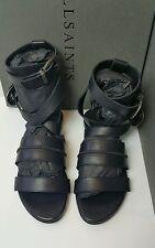 BNWB AllSaints Dace Sandals.leather.gladiator.Black. UK 5/38. £128.**LAST PAIR**
