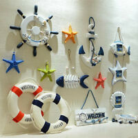23CM Wooden Rudder Sea Beach Nautical Decor Beach Shop Wall Hanging Ornament