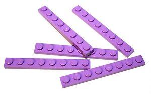 5x LEGO® Platte 1x8 3460 NEU Flieder Medium Lavender