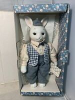 Country-Kins Barton Bunny NIB Ceramic Doll
