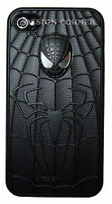 Spider Man Hybrid PC Hard Case For iPhone 4 4S Black Red Sliver Gift For Him Her