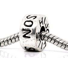 Son Fils Hijo Family Ring Bead for Silver European Jewelry Style Charm Bracelets