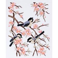 Janlynn Cross Stitch Kit - Chickadees & Apple Blossoms