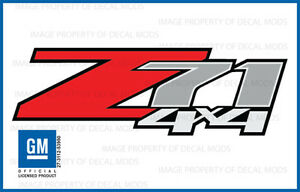 set of 2: 2011 Chevrolet Silverado Z71 4x4 decals - F - 1500 2500 HD stickers