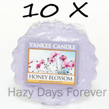 10 YANKEE CANDLE WAX TARTS MELTS Honey Blossom floral scented flowers