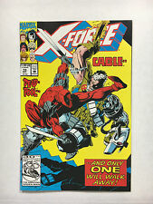 X-Force #15 VF+ 1992 Marvel comic Cable leaves  Deadpool cover