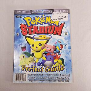 Pokemon Stadium 2 Nintendo 64 N64 Strategy Perfect Guide w/ Poster !!