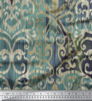 Soimoi 20 GSM Geometric Print 44 Inches Wide Pure Silk Fabric By The 1 Yard