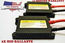 2 Replacement HID Xenon Conversion Slim DC Ballast 35W fits Universal All Bulbs