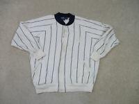 VINTAGE Ralph Lauren Polo Sweater Adult Medium White Blue Crest Mens 90s A13*