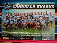 ✺New✺ 2017 CRONULLA SHARKS NRL Poster - 59.5cm x 42cm