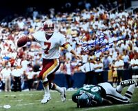 "Joe Theismann Signed Autographed 16X20 Photo Redskins ""83 NFL MVP"" Scramble JSA"