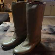 Frye Campus Stitching Horse Leather Stitching Tall Boots Size 9.5 D Women's Wide