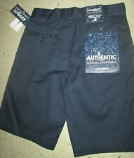 A+ School Uniform Flat Front Khaki Shorts Pants Blue Unisex Boys Girls Sz 7 Nwt