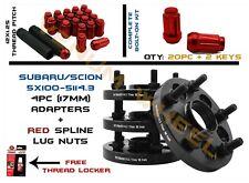 Full Set of 17mm Conversion Adapter 5x100 To 5x4.5 (5x114.3) +Spline Lug Nut Kit