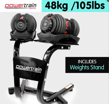 Powertrain Adjustable Dumbbell Set with Stand - 48kg