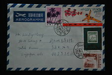 China PRC T7 43f, J99 20f, R21 3f, R22A 4f on Aerogramme -Sichuan-Wanxianshi cds