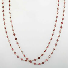 925 Sterling Silver Handmade Jewelry Ruby Dainty Ladie's Necklace