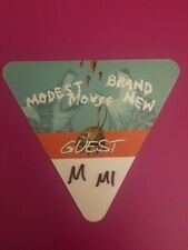 Modest Mouse & Brand New 2016 Tour Satin Guest Pass July 3 2016 Mi Never Used