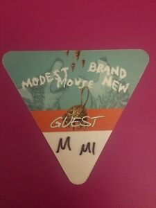 Modest Mouse + Brand New 2016 Dual Headline Tour VIP Satin Guest Pass DTE MI NEW