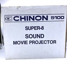 Vintage Chinon 5100 Super 8 Sound Movie Projector W/ Original Box