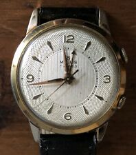 Milus Carrure Lunette Alarm  Watch Double OR G10 micron Overhauled 1940's
