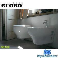 3S SANITARI BAGNO SOSPESI WC SEDILE BIDET GRACE CERAMICA GLOBO GRS02.BI GRS09.BI