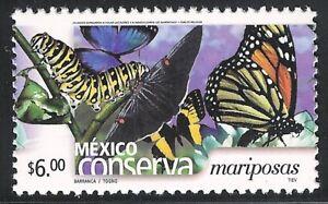 pc081 Mexico Conserva MNH paper 3 Sc#2262a Mc#2970C Et#mc081 butterflies