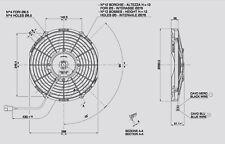 Spal Lüfter Hochleistungslüfter 285mm 1360 cbm h saugend VA11-AP7/C-57A