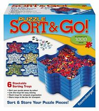 NEW! Ravensburger Puzzle Sort & Go 1000 piece 6 stackable sorting trays 17930