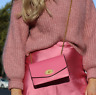 ZARA PINK CROP HIGH NECK SOFT FLUFFY KNITTED JUMPER SWEATER WITH PUFF SLEEVES SM